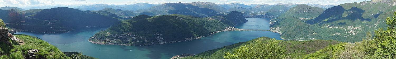 دریاچه لوگانو شهر لوگانو سوئیس