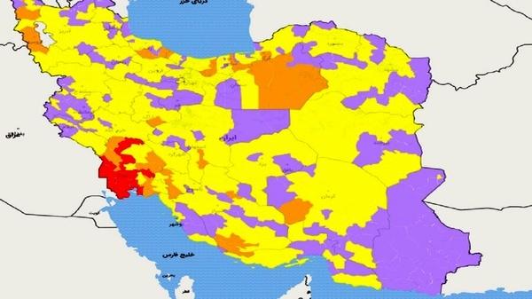 رنگ بندی جدید شهرها   کدام جاده ها برای عید بسته است